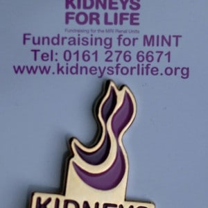 Kidneys for Life Pin Badge